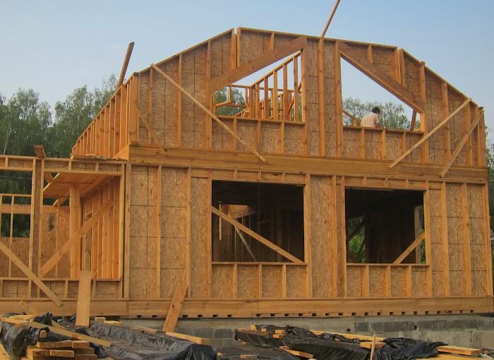Строительство каркасный домов с мансардой фото - Завод ДКМК - строительство каркасных домов под ключ в
